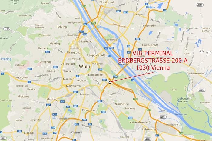 Map VIB Terminal Vienna