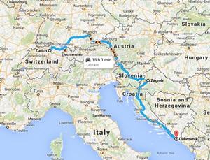 Bus Schweiz til Kroatien