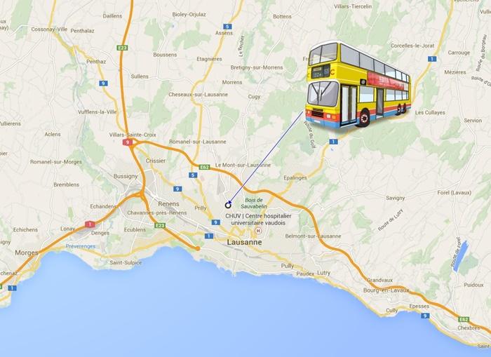 Bus station Lausanne